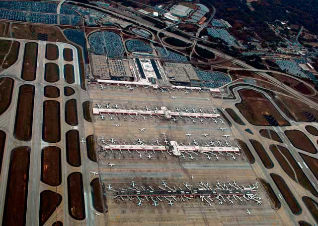 Hartsfield-Jackson Atlanta International Airport serves as a major hub for travel throughout the South and East of the United States.